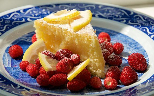 Enkel frisk citronkaka