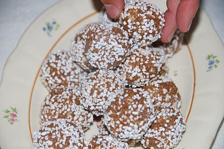 Matildas chokladbollar utan kaffe och med O'boy