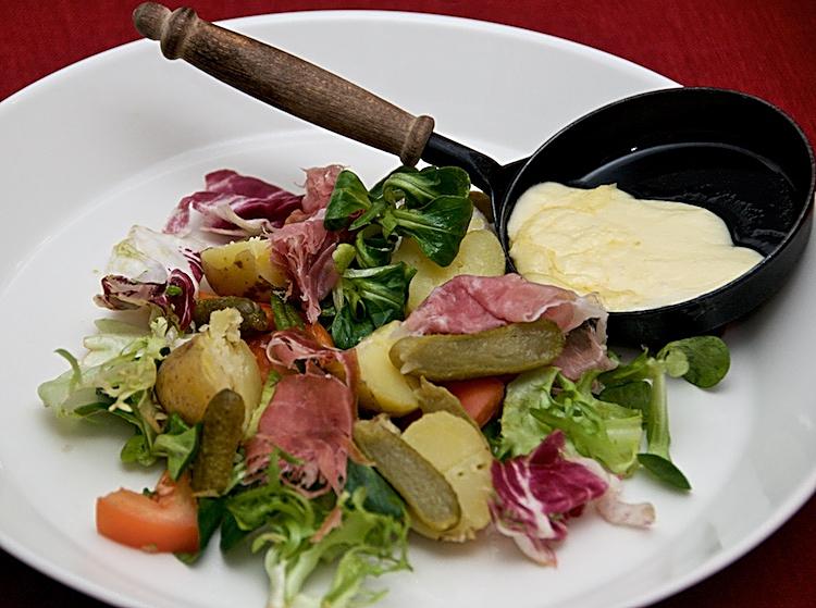 Raclette, som i Chamonix